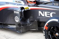 Nico Hulkenberg, Sauber C32 sidepod