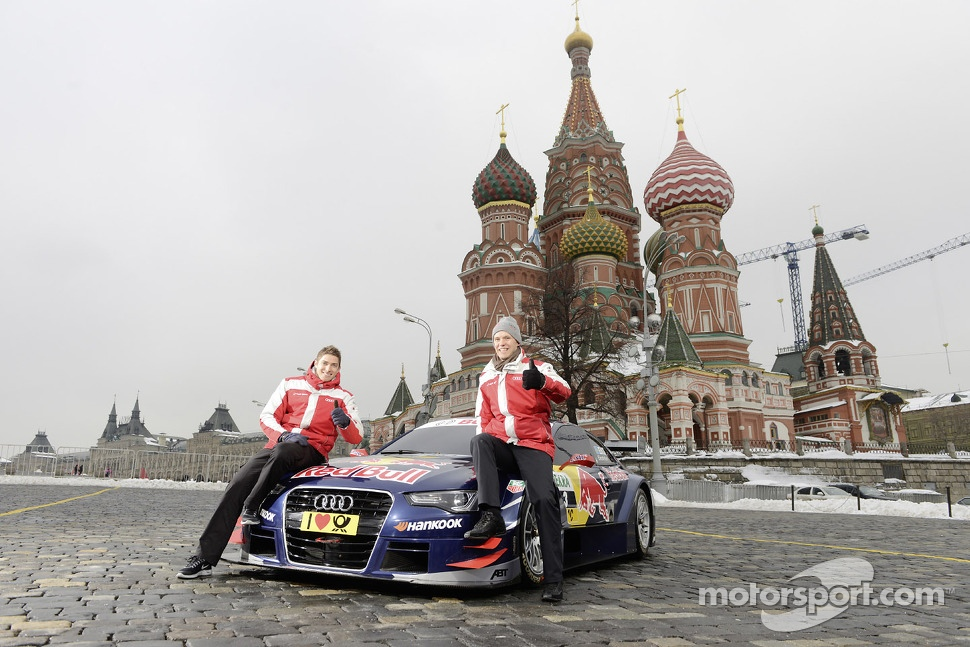 Edoardo Mortara and Mattias Ekstrm unveil Audi's 2013 DTM car