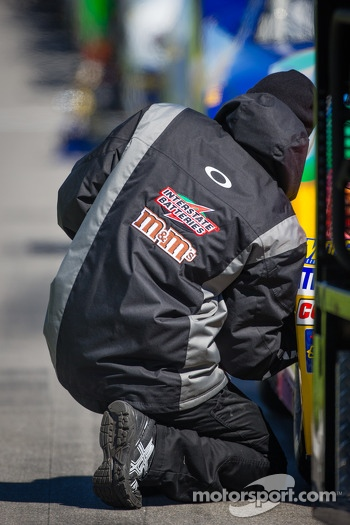 Joe Gibbs Racing Toyota crew member at work