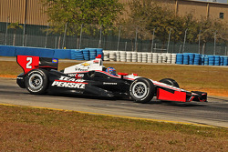 A.J. Allmendinger test the Penske Racing Chevrolet