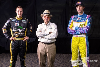 Trevor Bayne and Travis Pastrana with Jack Roush