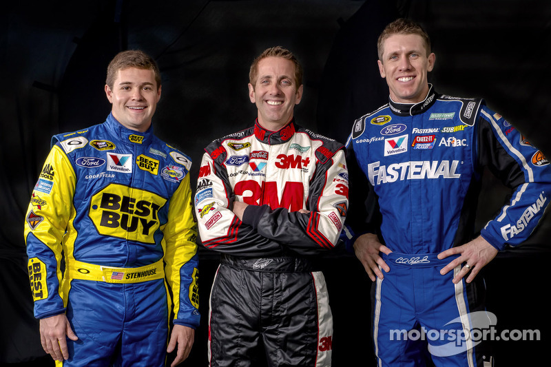 Ricky Stenhouse Jr., Greg Biffle and Carl Edwards