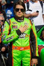 Danica Patrick, Stewart-Haas Racing Chevrolet during National Anthem