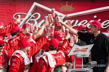 Victory lane: Richard Childress Racing crew members celebrate