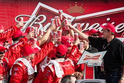 Victory lane: Richard Childress Racing crew members celebrate