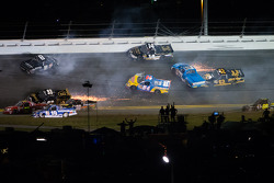 A huge wreck in turn 3