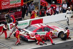 Pit stop for Regan Smith, Phoenix Racing Chevrolet