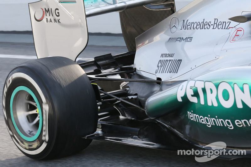 Mercedes AMG F1 W04 rear suspension