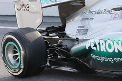 Mercedes AMG F1 W04 rear suspension