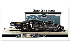 Agave Underground Tequila sponsored Danny Rowe Racing
