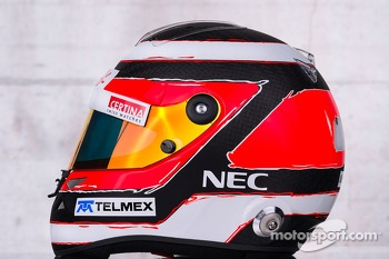 The helmet of Nico Hulkenberg, Sauber
