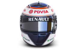 The helmet of Valtteri Bottas, Williams