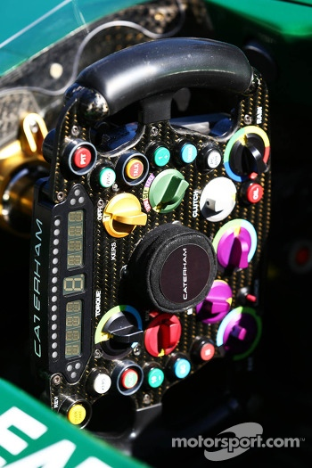 Caterham CT03 steering wheel