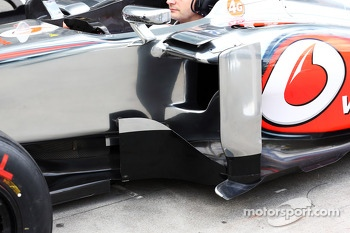 McLaren MP4-28 sidepod detail