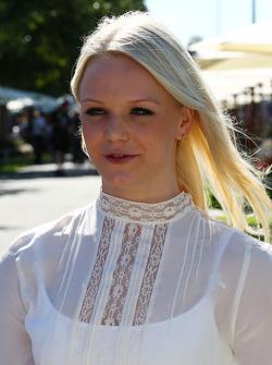 Emilia Pikkarainen, Swimmer, the girlfriend of Valtteri Bottas, Williams
