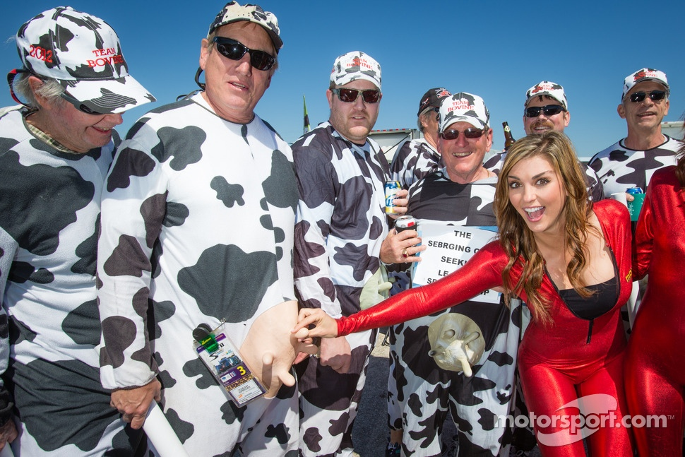 Paige Duke with the famous Team Bovine crew