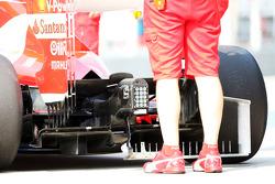 Ferrari F138 rear diffuser running sensor equipment
