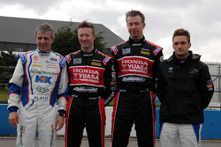 BTCC Champion Jason Plato, Gordon Shedden, Matt Neal and Colin Turkington