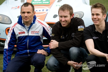 From left: Stphane Sarrazin, John Martin and Alex Brundle