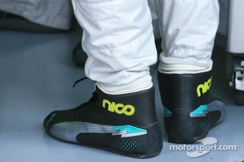 Shoes of Nico Rosberg, Mercedes AMG F1 W04