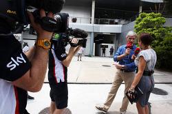 Damon Hill, Sky Sports Presenter with Natalie Pinkham, Sky Sports Presenter