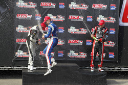 Podium: race winner Jack Hawksworth, Schmidt Peterson Motorsports, second place Peter Dempsey, Belardi Auto Racing, third place Sage Karam, Schmidt Peterson Motorsports