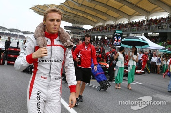Max Chilton, Marussia F1 Team on the grid