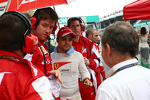 Felipe Massa with Rob Smedley, Ferrari Race Engineer and Jean Todt, FIA President on the grid