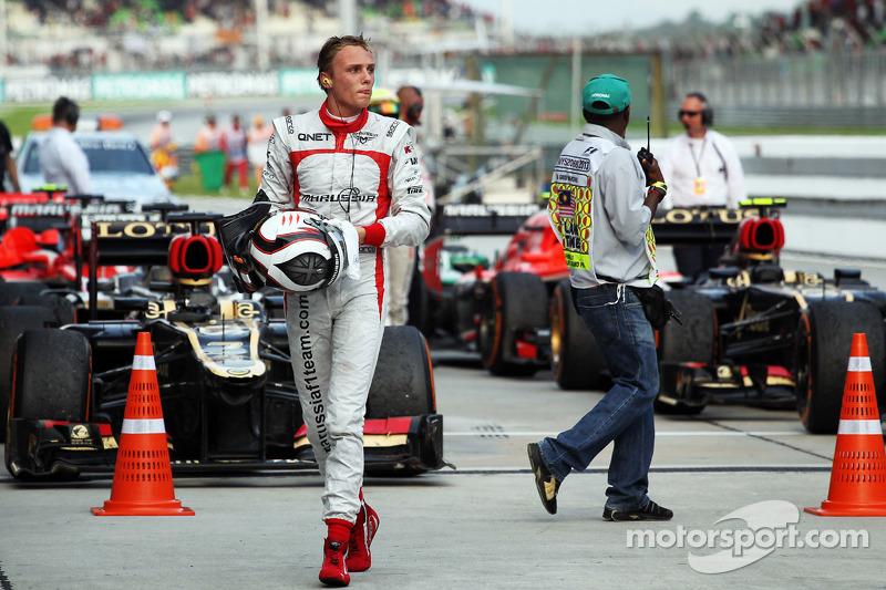 Max Chilton, Marussia F1 Team in parc ferme