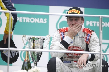 Podium: race winner Stefano Coletti celebrates