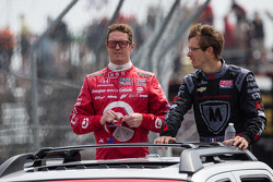 Scott Dixon, Target Chip Ganassi Racing Honda and Sébastien Bourdais, Dragon Racing Chevrolet