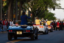 Street parade for the Grand Prix of St. Petersburg