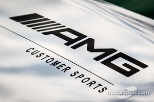 Car detail of the Mercedes-Benz SLS AMG GT3 of Tim Pappas