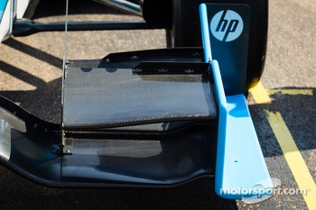 Front wing detail on the car of Simon Pagenaud, Schmidt-Hamilton Motorsports Honda