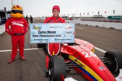 Pole winner Carlos Munoz, Andretti Autosport
