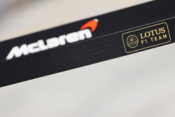 Lotus F1 Team and McLaren logos