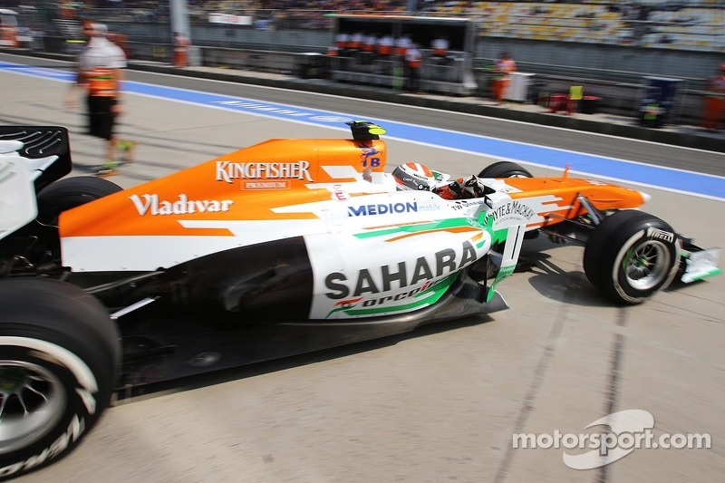 Adrian Sutil, Sahara Force India VJM06 leaves the pits
