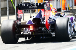 Sebastian Vettel, Red Bull Racing RB9 rear diffuser