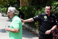 Tom Shine, Driver Manager with Eric Boullier, Lotus F1 Team Principal