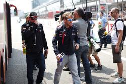 Kimi Raikkonen, Lotus F1 Team and Sebastian Vettel, Red Bull Racing on the drivers parade
