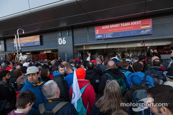 Fans flock to the Audi garages