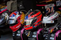 Helmets on disPlay for Bertrand Baguette, Ricardo Gonzalez, Martin Plowman
