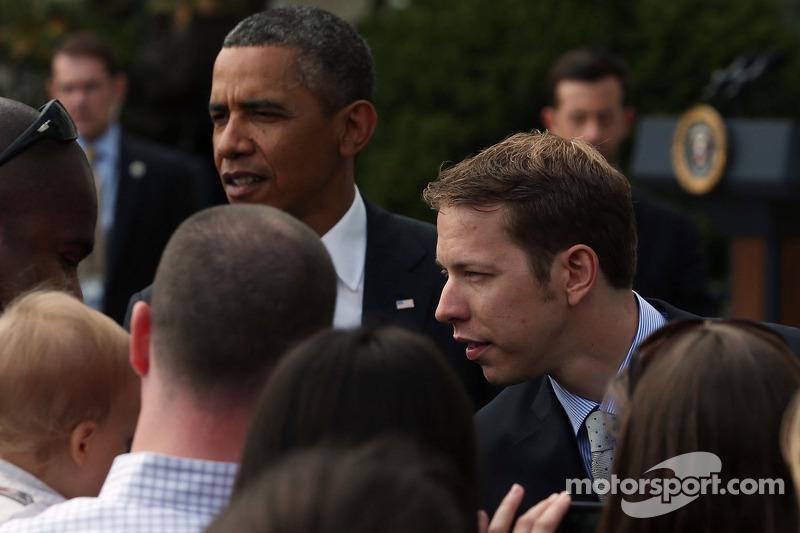 President Barack Obama with 2012 series champion Brad Keselowski