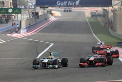 Lewis Hamilton, Mercedes Grand Prix and Jenson Button, McLaren Mercedes