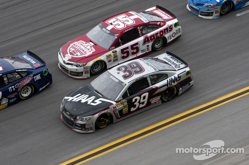 Ryan Newman and Michael Waltrip