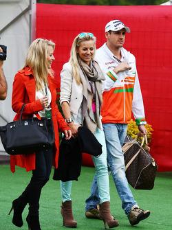 Adrian Sutil, Sahara Force India F1 with his girlfriend Jennifer Becks,