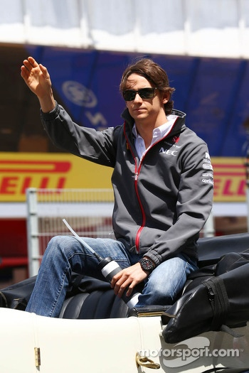 Esteban Gutierrez, Sauber on the drivers parade