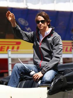 Esteban Gutierrez, Sauber on the drivers parade