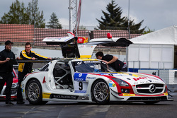 #9 Black Falcon Mercedes-Benz SLS AMG GT3 (SP9) at technical inspection