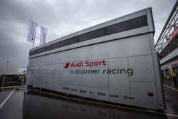 Audi Sport Customer Racing paddock structure